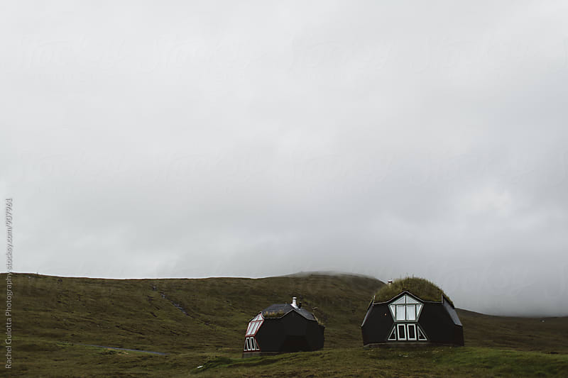 Grass Roofed Igloos in Kvivik, Faroe Islands by Rachel Gulotta Photography for Stocksy United