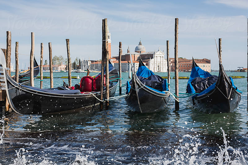 Gondolas in Venice, Italy by Mauro Grigollo for Stocksy United