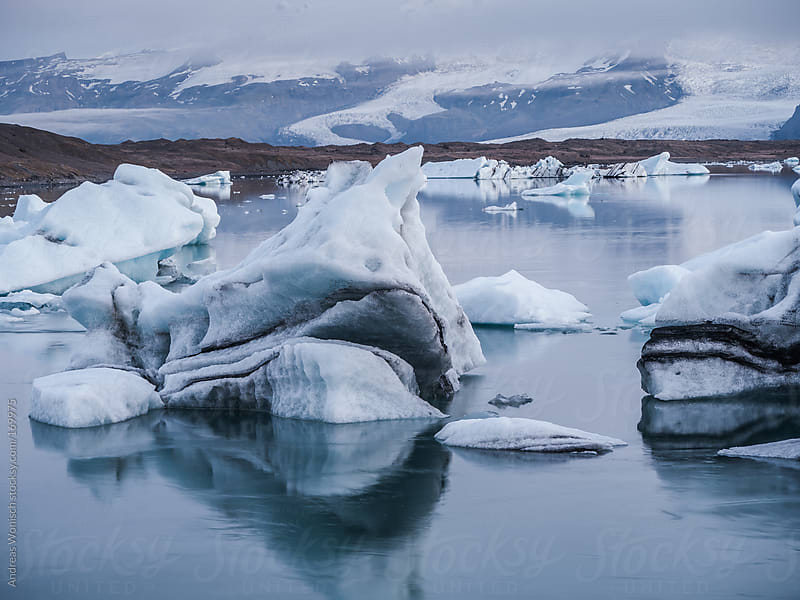 Icebergs in Iceland's Jokulsarlon Glacier Lagoon by Andreas Wonisch for Stocksy United