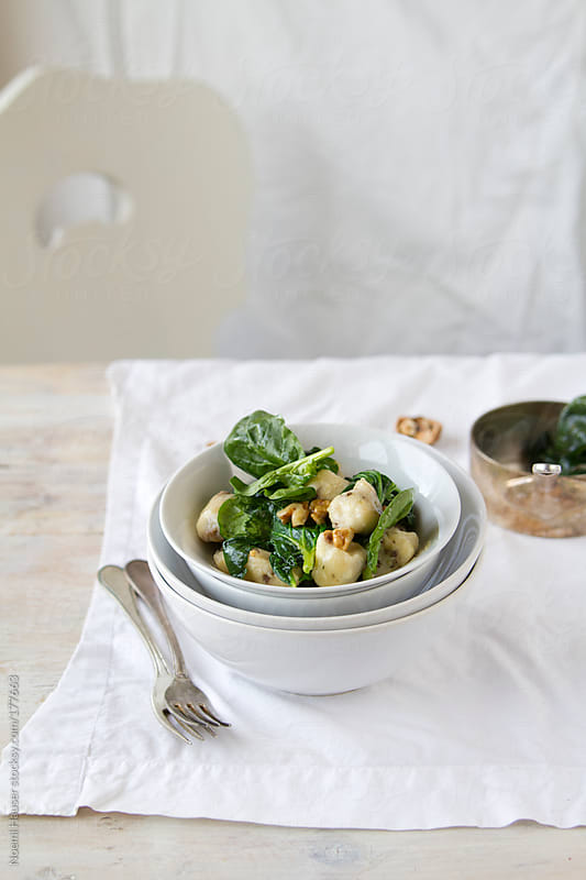 Gnocchi with spinach by Noemi Hauser for Stocksy United