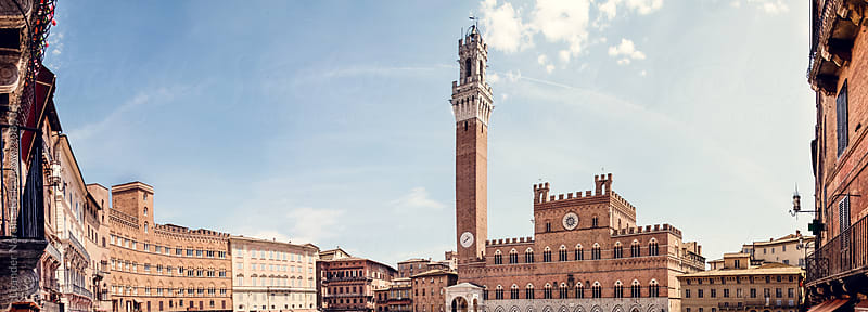 Piazza del Campo in Siena by Leander Nardin for Stocksy United