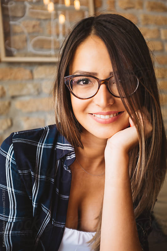 Portrait of Beautiful Brunette Woman by Katarina Radovic for Stocksy United
