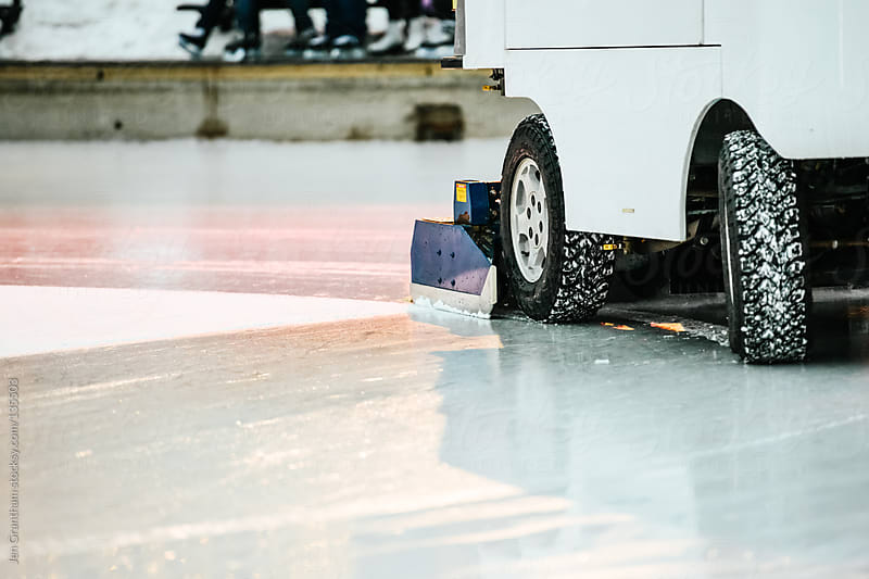 Zamboni clearing the ice by Jen Grantham for Stocksy United