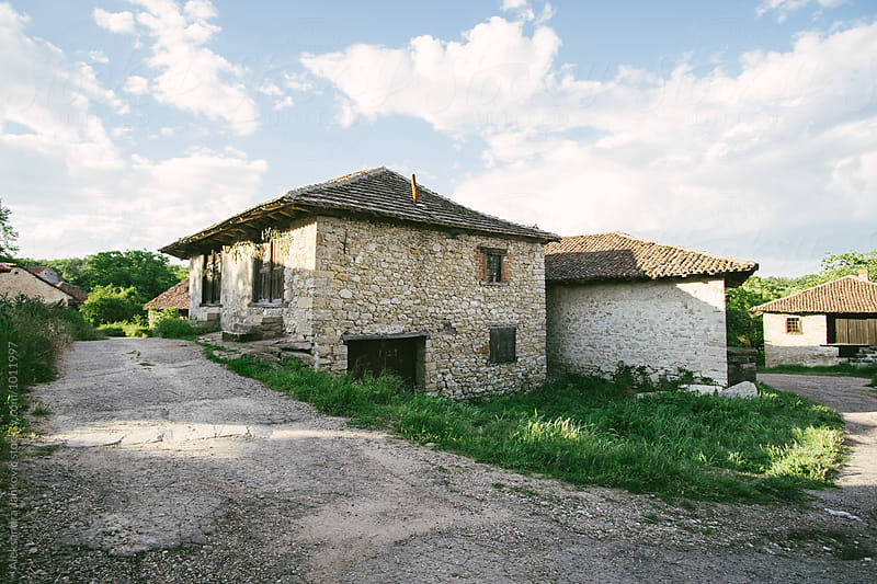 Charming Old Village with Wine Cellars by Aleksandra Jankovic for Stocksy United