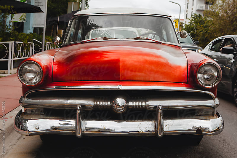 Red 1950's Era Classic Car by Stephen Morris for Stocksy United