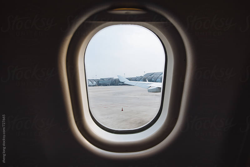 The plane is ready to take off,Chengdu,China by zheng long for Stocksy United