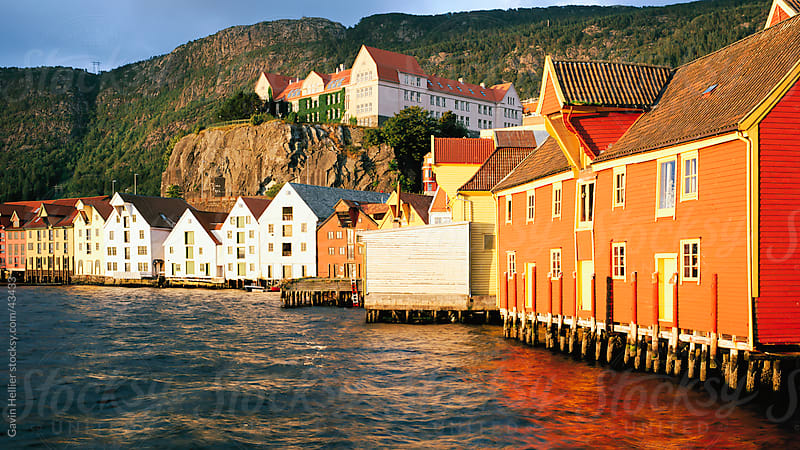 Restored harbour front wooden warehouses, Bergen, Norway, Scandinavia, Europe by Gavin Hellier for Stocksy United