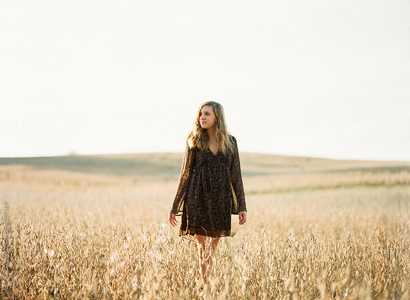 Girl in a Soy Field by Marta Locklear for Stocksy United