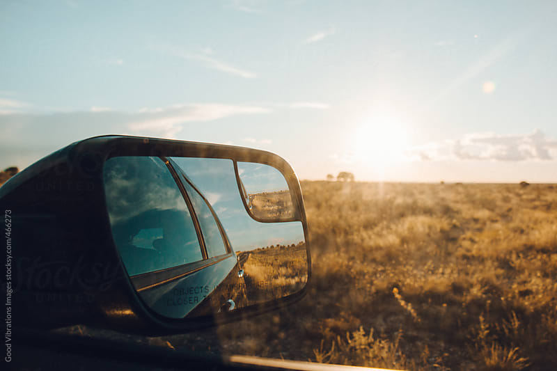 Roadtrip at Sunset by Good Vibrations Images for Stocksy United