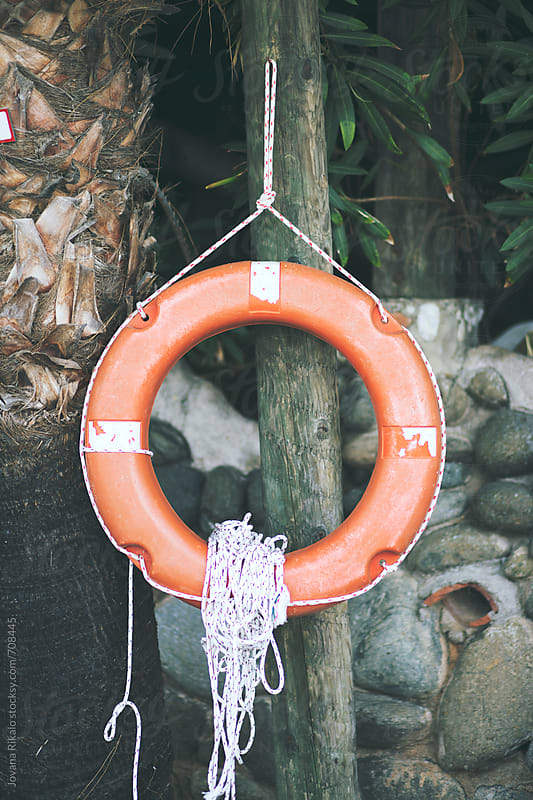 Orange life preserver close up by Jovana Rikalo for Stocksy United