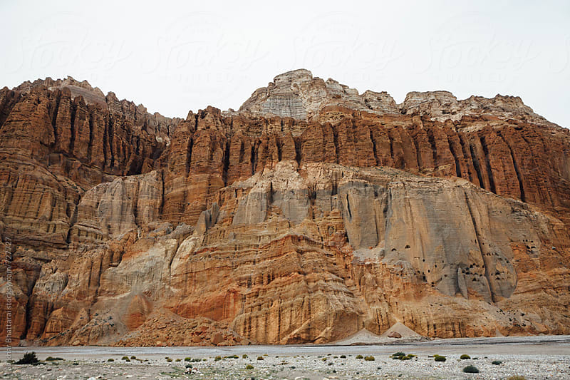 Landscape of Upper Mustang on the way to the kingdom of Lo Manthang. by Shikhar Bhattarai for Stocksy United