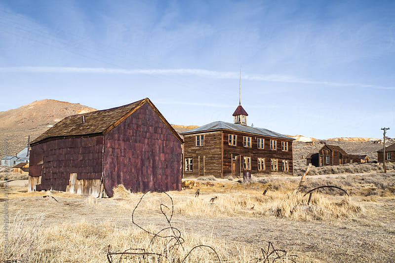 School House in Abandoned Ghost Town by MEGHAN PINSONNEAULT for Stocksy United