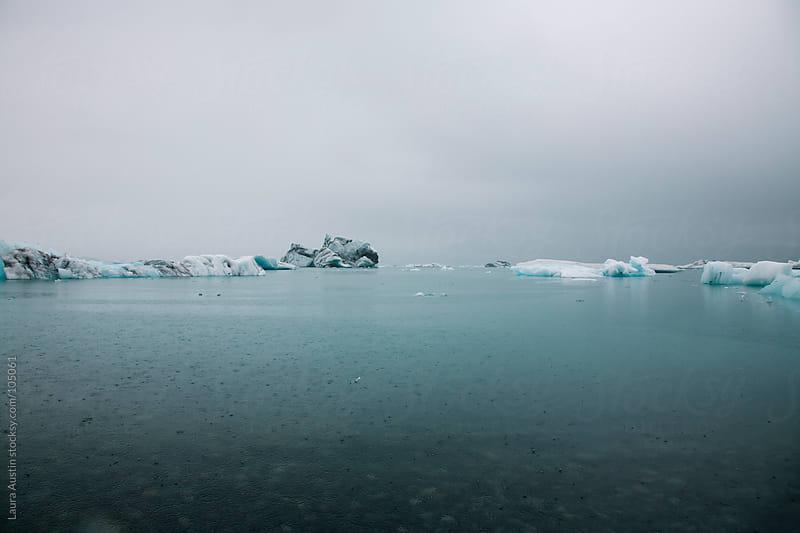 Blue Lake Full Of Icebergs In Iceland by Laura Austin for Stocksy United