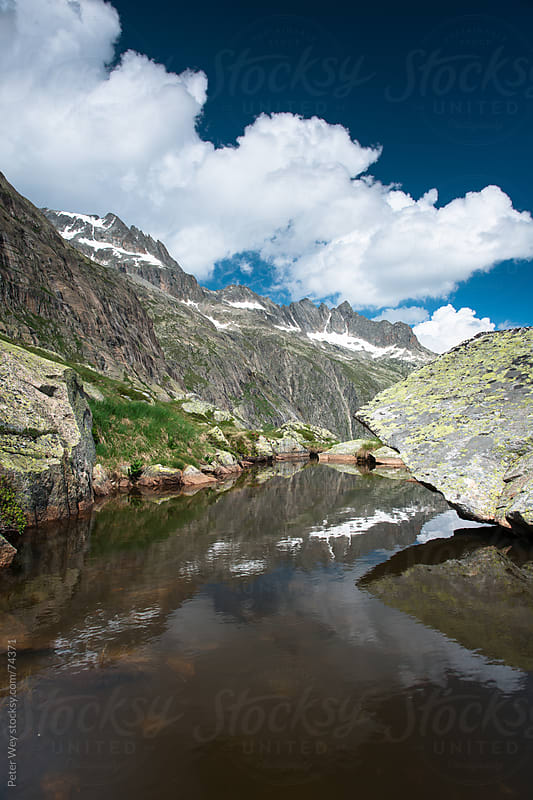 Mountain Lake at Lauteraar by Peter Wey for Stocksy United