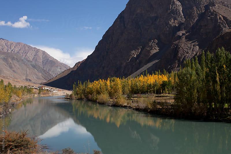 Advent of Fall season in Ladakh,India