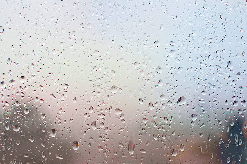 Rain drops on window by Per Swantesson for Stocksy United