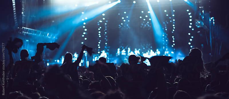 Concert crowd at live music festival by Robert Kohlhuber for Stocksy United