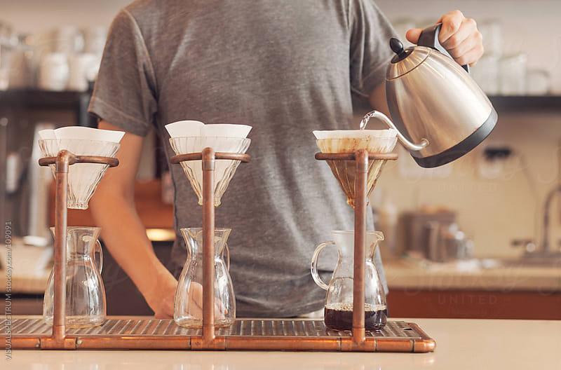 Barista Preparing Gourmet Filter Coffee by VISUALSPECTRUM for Stocksy United