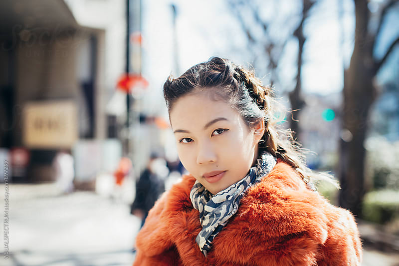 Young Stylish Japanese Woman on Sunny Day by Julien L. Balmer for Stocksy United