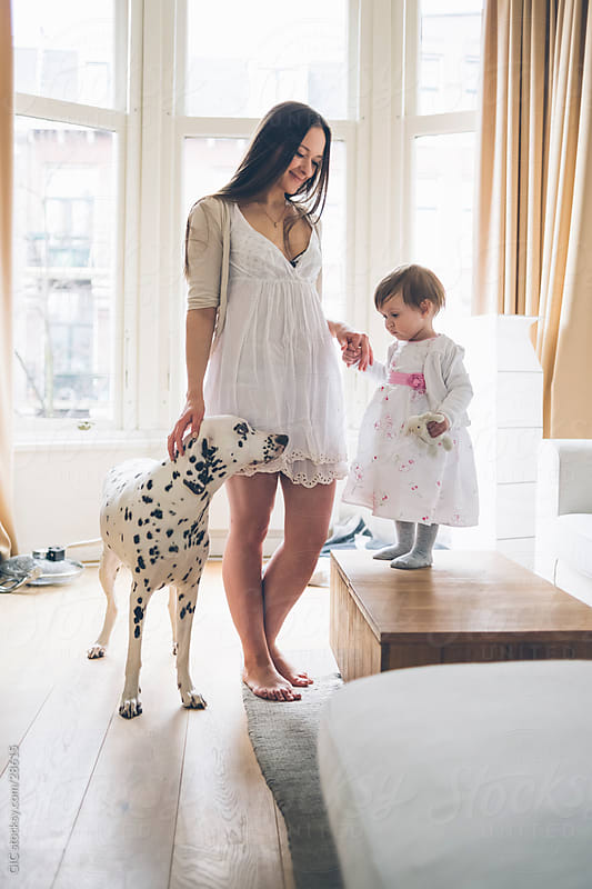 Mother and little girl by GIC for Stocksy United