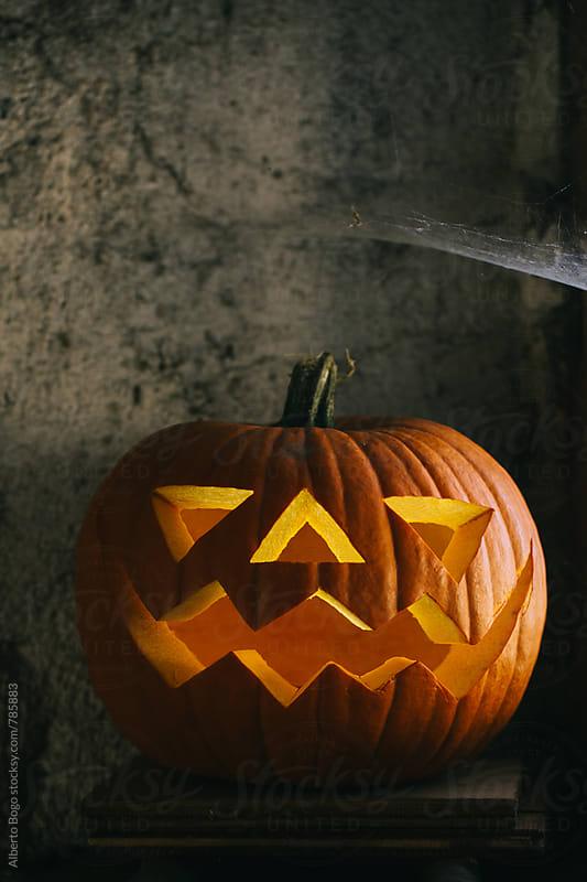 Carved pumpkin. by Alberto Bogo for Stocksy United