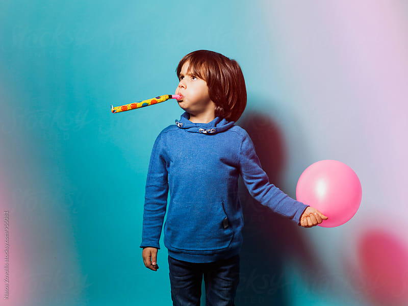 Studio shot of a 5 years old boy by Nasos Zovoilis for Stocksy United