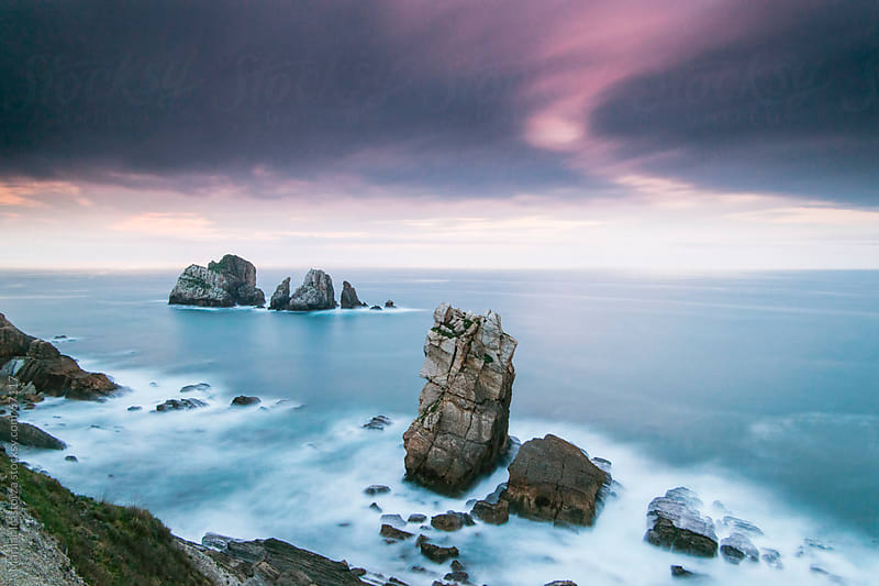 Sunset in the area known as Costa Quebrada, near Santander (Cantabria), in northern Spain by Marilar Irastorza for Stocksy United