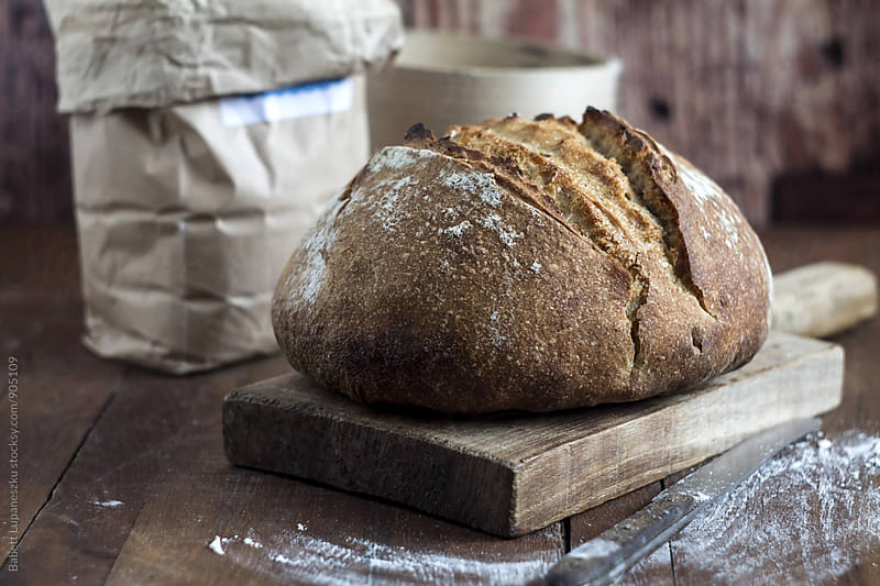 Sourdough bread by Viktorné Lupaneszku for Stocksy United