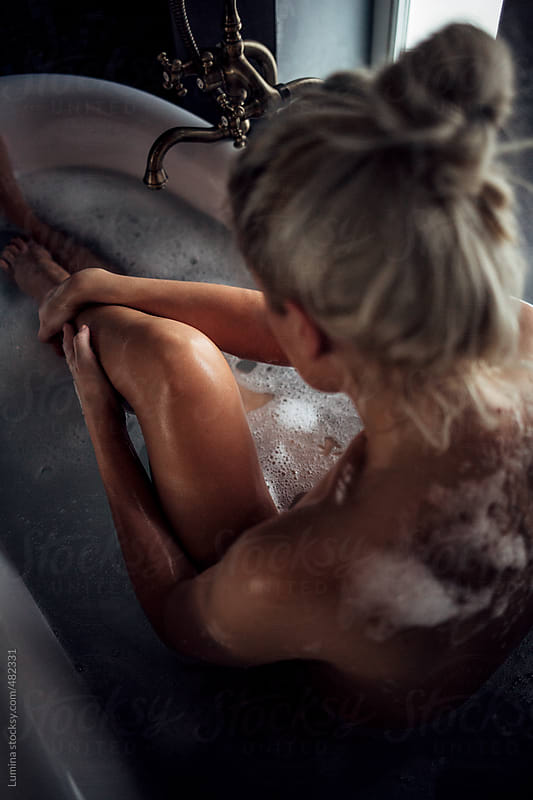 Beautiful Woman Having a Bath  by Lumina for Stocksy United