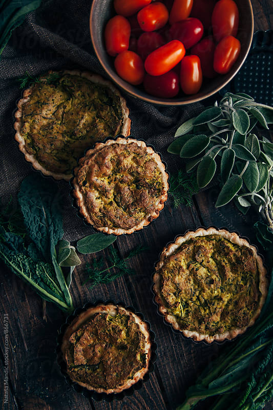 Delicious vegan quiche by Nataša Mandić for Stocksy United