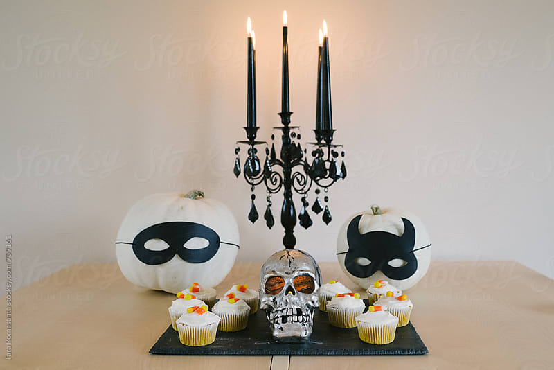 Simple Halloween decorations by Tara Romasanta for Stocksy United