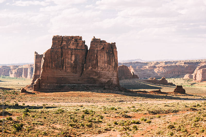 Canyons in Arches National Park, Utah, USA by Peter Wey for Stocksy United