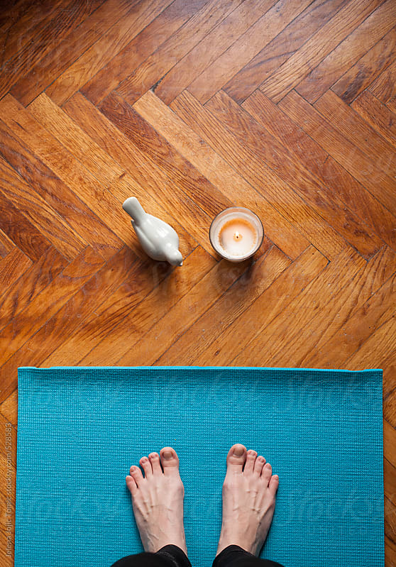 Being present at the yoga met by Jelena Jojic Tomic for Stocksy United