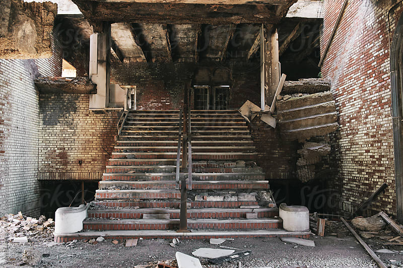 Abandoned staircase by Anna-Marie Panlilio for Stocksy United