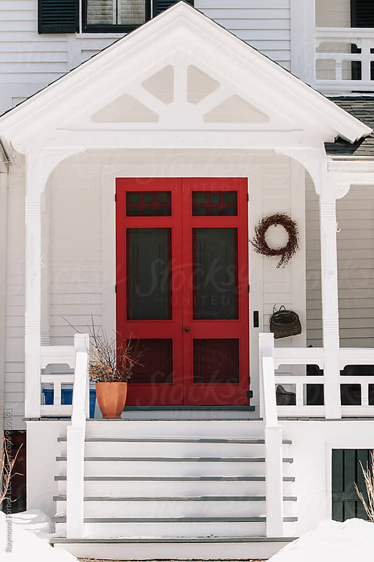 Beautiful Red Door by Raymond Forbes LLC for Stocksy United