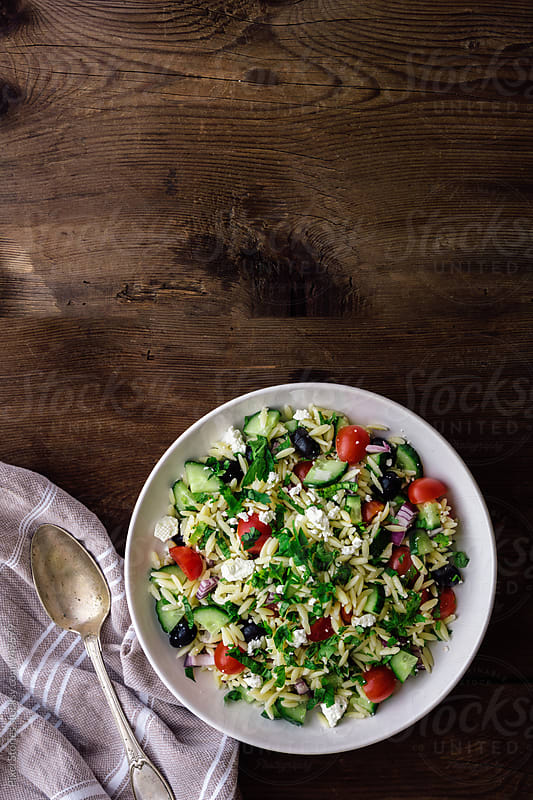 Mediterranean orzo salad by Pixel Stories for Stocksy United