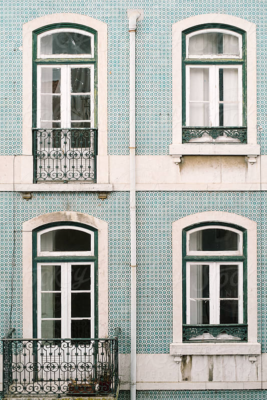 Lisbon building by Sam Burton for Stocksy United