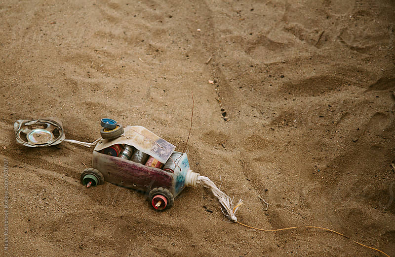 An African child's toy, made from recycled rubbish. by Helen Rushbrook for Stocksy United
