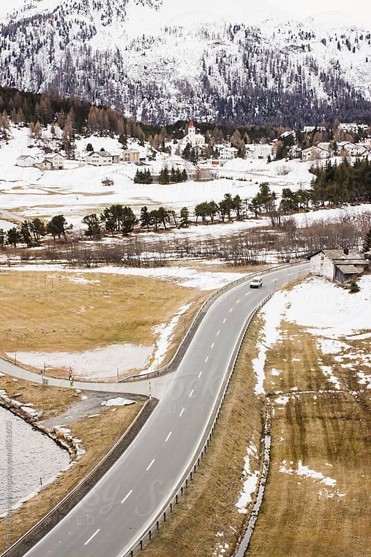 Mountain road in alpine landscape by michela ravasio for Stocksy United