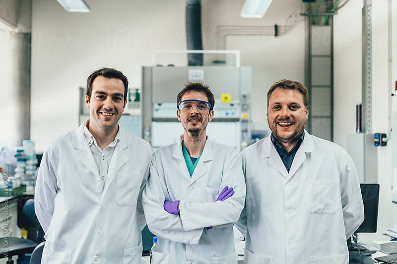 Corporate Portrait of Biologists in a Professional Laboratory by Victor Torres for Stocksy United