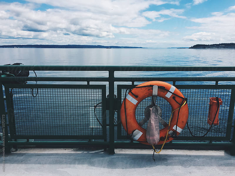 Ferry Boat in Puget Sound, Washington by michelle edmonds for Stocksy United