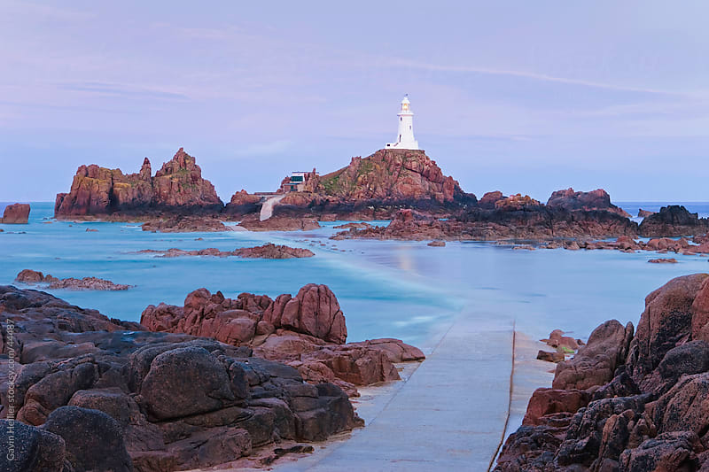 Corbiere Lighthouse, Jersey, Channel Islands, Great Britain by Gavin Hellier for Stocksy United
