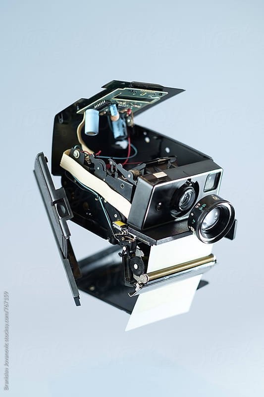 Disassembled Polaroid Camera by Branislav Jovanović for Stocksy United