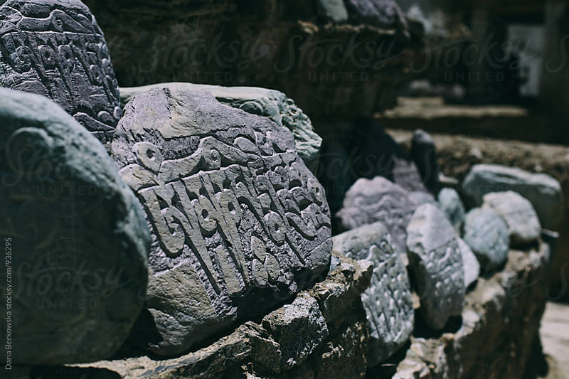 Buddhist rocks by Daria Berkowska for Stocksy United