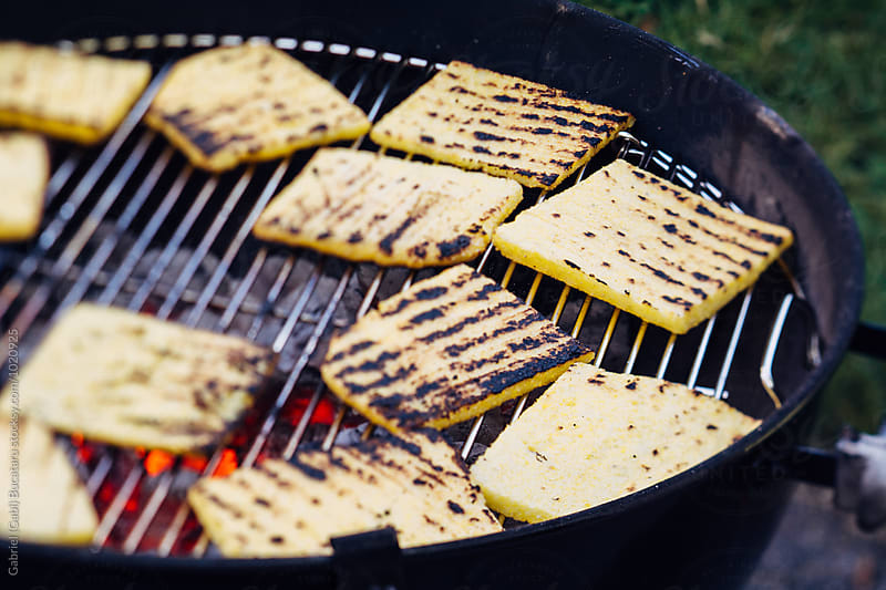 Polenta on a grill by Gabriel (Gabi) Bucataru for Stocksy United