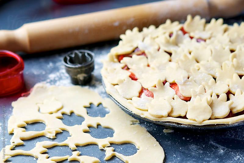 Strawberry Rhubarb Pie by Harald Walker for Stocksy United