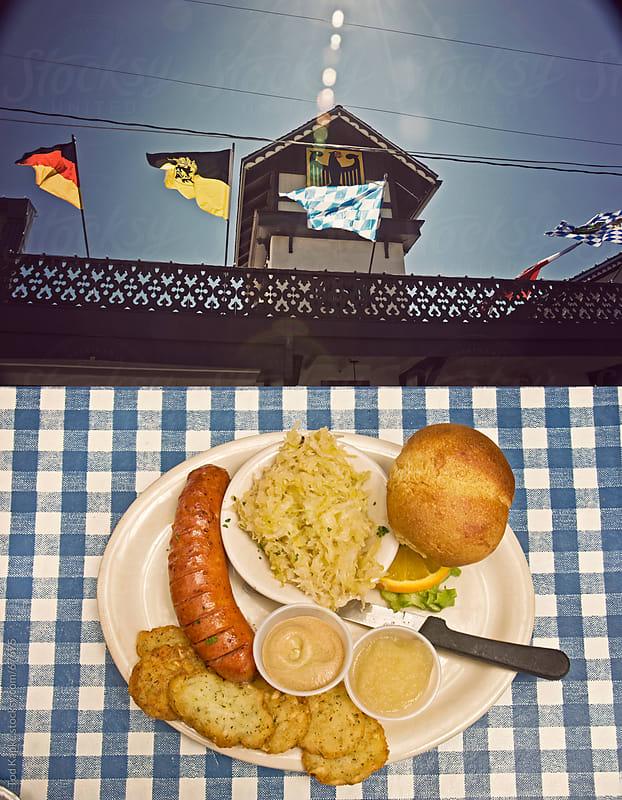 german food overhead Texas by Tod Kapke for Stocksy United