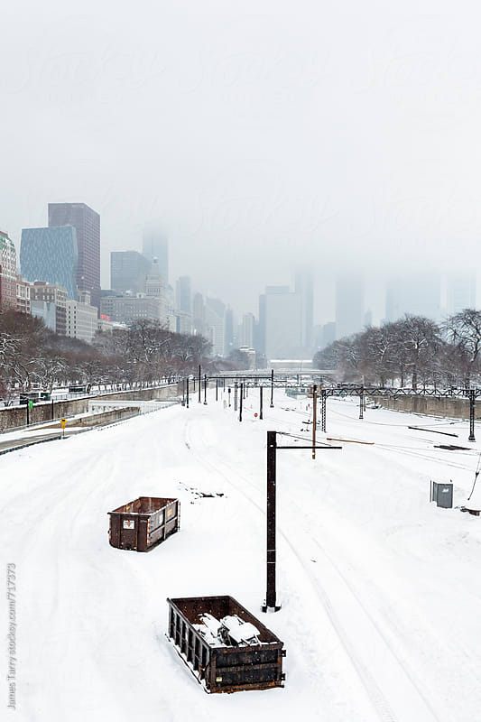 Train station in Winter by James Tarry for Stocksy United