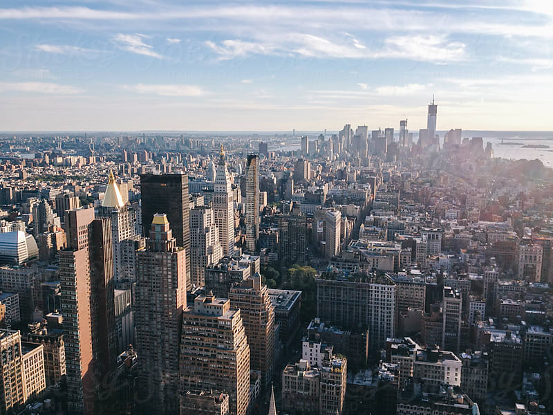Manhattan skyline from the Empire State building by Luca Pierro for Stocksy United