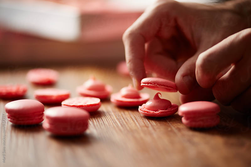 Preparing Typical French Macarons by Martí Sans for Stocksy United